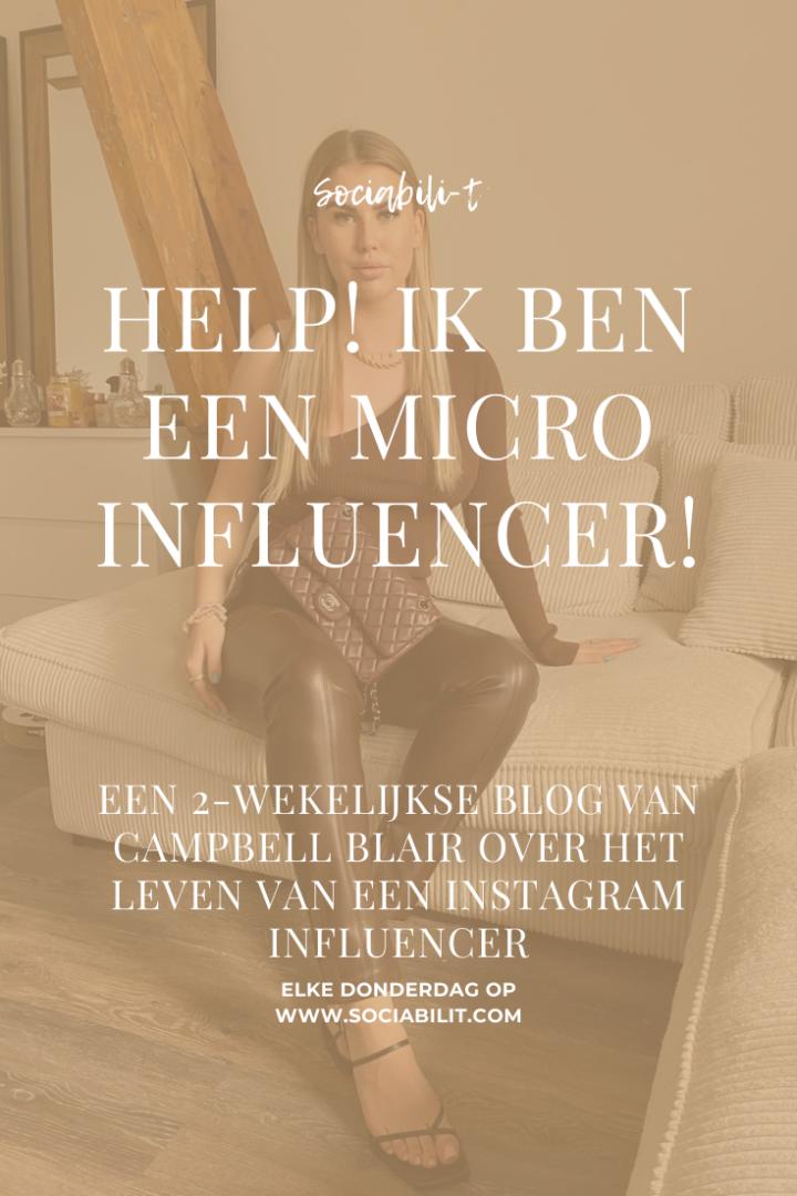 HELP! IK BEN EEN MICRO-INFLUENCER!